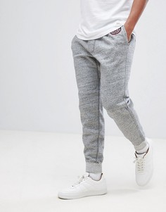 Серые меланжевые джоггеры с логотипом Abercrombie & Fitch - Серый