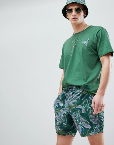 Темно-зеленые шорты для плавания Pretty Green X Katie Eary - Зеленый