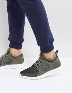 Трикотажные кроссовки цвета хаки Certified London - Зеленый