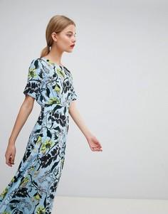 Платье миди с цветочным принтом Essentiel Antwerp - Синий