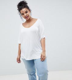 Белая футболка ASOS DESIGN Curve - Белый
