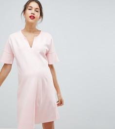 Платье с расклешенными рукавами Isabella Oliver - Розовый