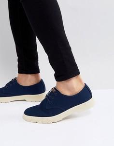 Темно-синие туфли с 3 парами люверсов Dr.Martens Delray - Темно-синий