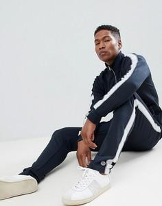 Спортивные штаны с нашивкой Selected Homme - Темно-синий