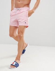 Розовые шорты для плавания с маленьким логотипом Champion - Розовый