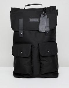 Черный рюкзак с двумя карманами Consigned - Черный