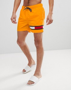 Оранжевые шорты для плавания со шнурком на поясе Tommy Hilfiger - Желтый