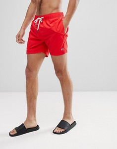 Красные шорты для плавания со шнурком на поясе и логотипом Tommy Hilfiger - Красный