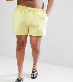 Желтые короткие шорты для плавания ASOS PLUS - Желтый