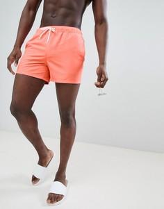 Ярко-оранжевые короткие шорты для плавания ASOS - Оранжевый
