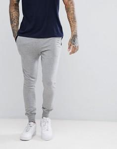 Меланжевые джоггеры с контрастной отделкой на карманах Brave Soul - Серый
