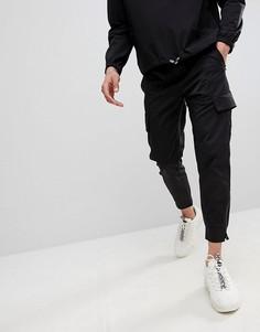 Черные брюки карго скинни Religion - Черный