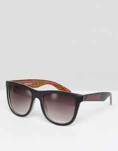 Черные классические солнцезащитные очки с логотипом Santa Cruz - Черный