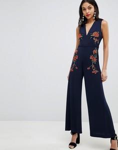 Комбинезон с цветочной вышивкой Finders - Темно-синий