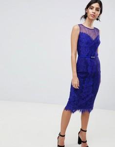 Кружевное облегающее платье-футляр Little Mistress - Фиолетовый