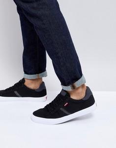 Черные парусиновые кроссовки Levis Skinner Reguar - Черный Levis®