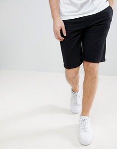 Черные трикотажные шорты узкого кроя Solid - Черный
