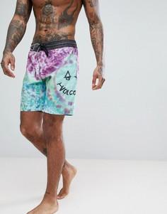 Пляжные шорты с принтом тай-дай Volcom - Синий