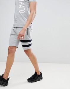 Трикотажные шорты с полосками Antony Morato - Серый
