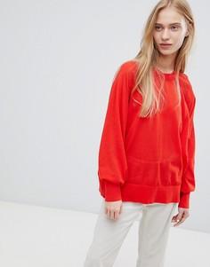 Красный полупрозрачный лонгслив Weekday - Красный
