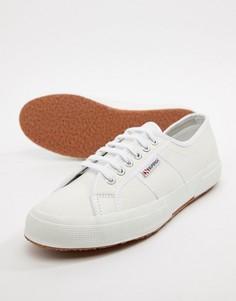 Белые классические кожаные кеды Superga 2750 - Белый