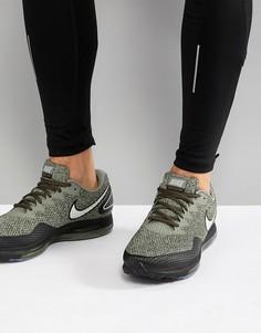 Кроссовки цвета хаки Nike Running Zoom All Out Low 2 AJ0035-300 - Зеленый