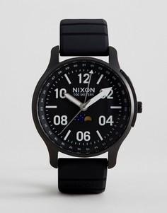 Часы с черным силиконовым ремешком Nixon A1209 - Черный