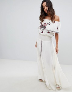 Платье макси с принтом Raga Tessi - Белый