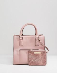 Сумка-тоут с карманом и кошельком Carvela Simba - Розовый