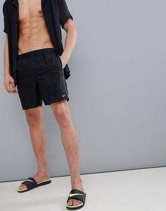 Черные шорты для плавания с логотипом Nike - Черный