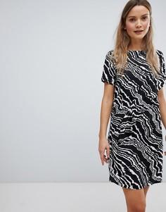 Платье А-силуэта в полоску In Wear Piritta - Черный