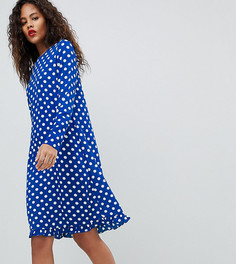 Платье в горошек Y.A.S Tall Dotti - Темно-синий