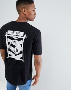 Oversize-футболка с принтом Le Breve - Черный