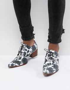 Туфли с принтом роз Jeffery West Sylvian - Синий