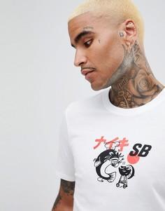 Белая футболка с принтом Nike SB BBQ 912184-100 - Белый