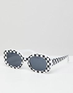 Квадратные солнцезащитные очки в клетку в стиле 90-х ASOS DESIGN - Черный