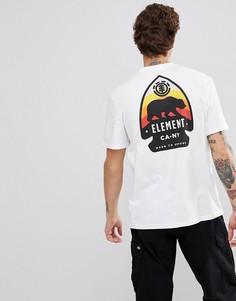 Белая футболка с принтом на спине Element - Белый