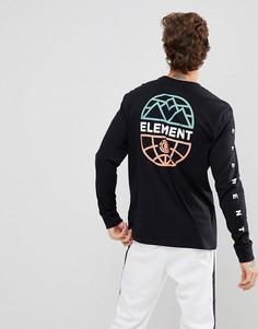 Черная футболка с принтом на спине Element Terra - Черный