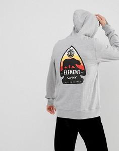 Серый худи с принтом на спине Element Arrow - Серый