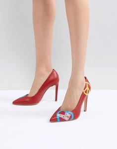 Туфли-лодочки на высоком каблуке Love Moschino - Красный