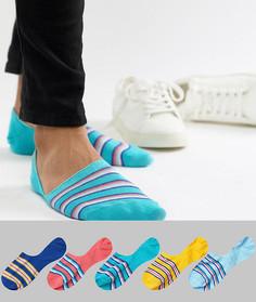 Набор из 5 пар спортивных носков с полосками в стиле ретро ASOS DESIGN - Мульти