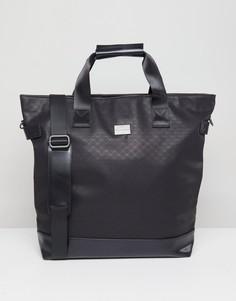 Фактурная сумка-тоут Peter Werth Tully - Черный