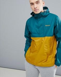 Зелено-желтая водонепроницаемая куртка с капюшоном Marmot PreCip - Зеленый