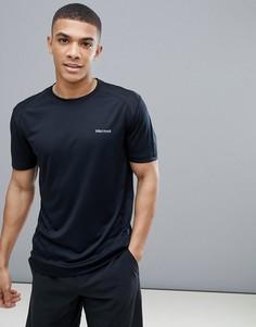 Черная беговая футболка с короткими рукавами Marmot Active Windridge - Черный