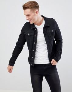 Черная эластичная джинсовая куртка Blend - Черный
