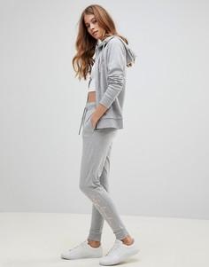 Спортивные штаны с блестящим логотипом Tokyo Laundry Harmony - Серый