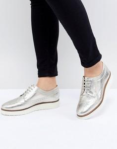 Кожаные туфли на плоской подошве ASOS DESIGN Marce - Золотой