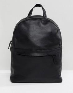 Черный кожаный рюкзак ASOS DESIGN - Черный