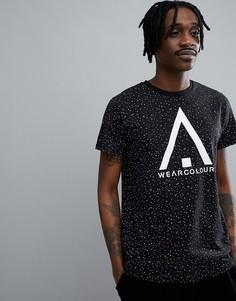 Черная футболка с логотипом Wear Colour - Черный