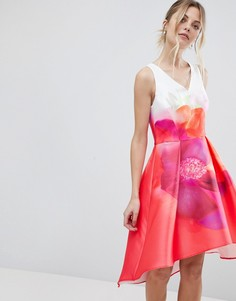 Платье-трапеция с принтом Coast Delgado - Красный
